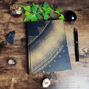 carnet kaabi par lunaecraft peinture abstraite noir et or