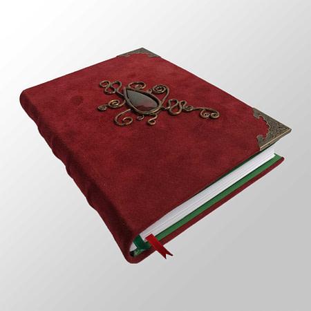 carnet protecteur de coin bronze rouge