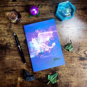 carnet esprit dragon violet personnalisable
