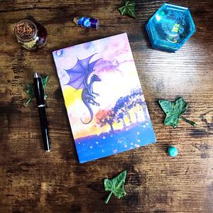 carnet dragon violet foret personnalisable