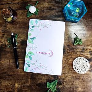 dos carnet couronne fleurie personnalisable lunaecraft
